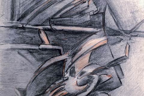 Sustainable. 2006. Charcoal, pencil on paper, 23 x 17