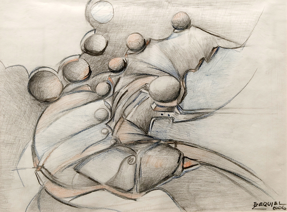 Untitled. 2006. Charcoal, pencil, crayon on papel, 13 x 16¾