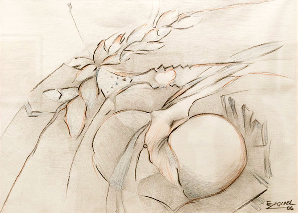 Sketch for woman. 2006. Pencil, pastel, charcoal on paper, 22 ½ x 19